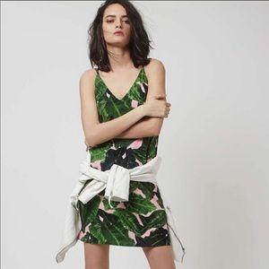 Topshop Tropical Palm Leaf Dress Size 6